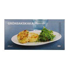 IKEA - GRÖNSAKSKAKA, Brokkoli-Kartoffelmedaillons, Fertiggericht auf Kartoffelbasis mit Brokkoli, Lauch, Zwiebeln und Käse. Als Beilage zu Geflügel, Fleisch oder Fisch oder auch als vegetarisches Gericht servieren.