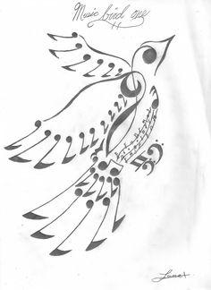 Music Note Bird by dametsuna21.deviantart.com on @deviantART