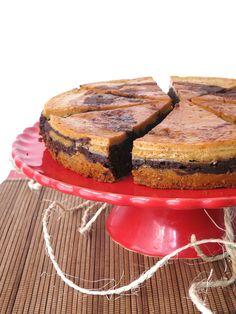 Chocolate and coffee flan cake