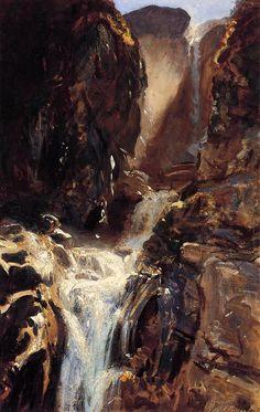 Art Renewal Center :: John Singer Sargent :: A Waterfall