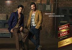 Shahrukh Khan and Saif Ali Khan for Royal Stag (2013)