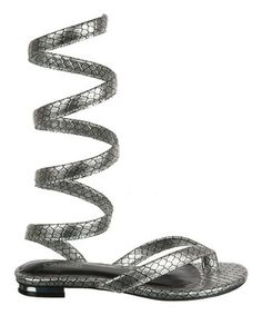 Silver Kendra Sandal by Carlos by Carlos Santana #zulily #zulilyfinds