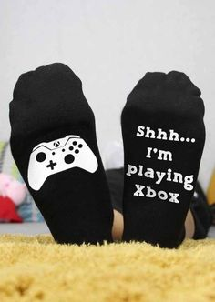 I& Playing Xbox Socks # Buy Affordable And Fashionable Women's clothing Online. Buy Shoes, Bags, Dresses Etc Xbox, Pizza Socks, Beer Socks, Black Underwear, Gaming, Warm Socks, Funny Socks, Gamer Gifts, Cotton Socks