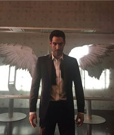 Lucifer with his wings