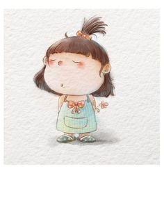 Discovered by by simon. Find images and videos about cute, art and illustration on We Heart It - the app to get lost in what you love. Art Drawings Sketches, Cartoon Drawings, Cute Drawings, Cartoon Art, Cute Illustration, Character Illustration, Watercolor Illustration, Watercolor Art, Arte Peculiar