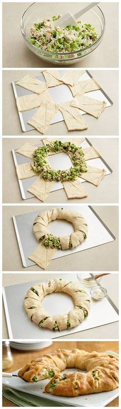Cheesy Chicken and Broccoli Crescent Ring Recipe
