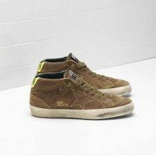 Buy MAN Golden Goose MID STAR Sneakers Brown Black GGDB Shoes Sneaker  Outlet 98986ecef75c