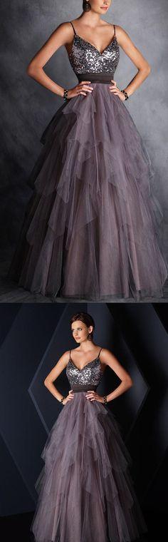 2017 New Style Spaghetti Straps Prom Dress,Chiffon Layered Evening Dress,Sleeveless Party Dress