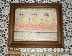 Wall Decor  Babies Bedroom picture Antique Stitched by chloeswirl, $13.99