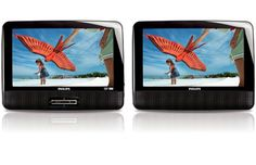 "4/9/2012  $74.99  + FREE SHIPPING Philips 7"" Dual Screen DVD Player w/ Built-in Stereo Speakers, PAL & NTSC Compatibility & Power Resume"