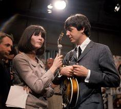 Cathy McGowan interviews a very interested Paul McCartney on Ready Steady Go, 20th March 1964