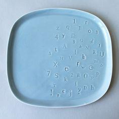typography serving platter