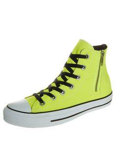 Converse - ALL STAR HI SIDE ZIP - Tenisówki i Trampki wysokie - żółty #zalando