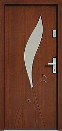 Drzwi zewnętrzne nowoczesne model 458,6 w kolorze orzech