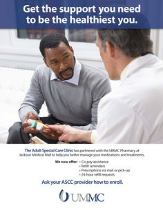 University of Mississippi Medical Center Adult Special Care Clinic – Patient Pharmacy Program Poster (Oct. 2015)