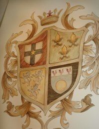 Would love to recreate a family coat of arms Party Organization, Knight In Shining Armor, Crests, Wall Treatments, Coat Of Arms, Wall Ideas, Juices, Knights, Flags