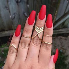 Image result for red acrylic nails