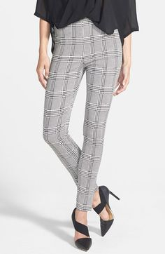 Lucy Paris Houndstooth High Waist Leggings available at #Nordstrom