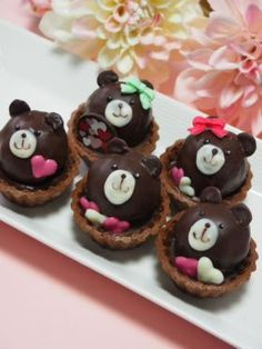 「【バレンタイン】くまちゃんトリュフタルト♪」さおり | お菓子・パンのレシピや作り方【corecle*コレクル】