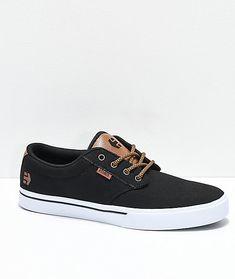 b0ba19bf1d00 Etnies Jameson 2 Eco Black   White Canvas Skate Shoes