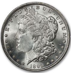 1892 Morgan Dollar that's CAC Approved. Rare Coins, Half Dollar, Silver Bars, Larry, Auction