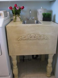 Homemade laundry sink @JOYS OF HOME: furniture I a-door