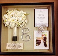 Beautiful wedding shadow box!                                                                                                                                                     More