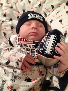 Never let the football out of your sight - we like this little guy's style. #Patriots