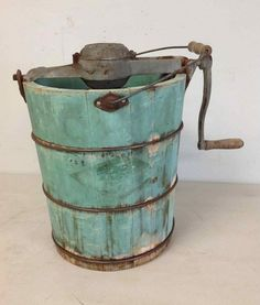 What should I use mine for? Possibilities are endless! Antique Milk Can, Vintage Ice Cream, Wooden Buildings, Milk Cans, Ice Cream Maker, Crock, Primitive, Restoration, Auction