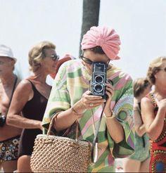 vintage pucci & vintage camera.