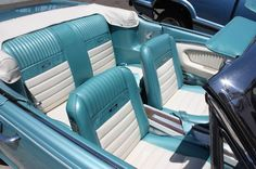66 Mustang interior. Oh my goodness gorgeous.