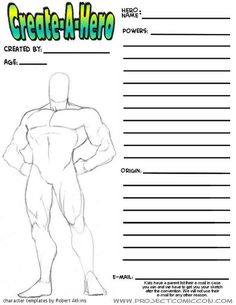 Build My Own Hero 6 - Goodreads | Robert Atkins's Blog - More SuperHero figure templates - March 01, 2013 01:05