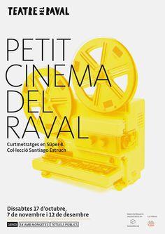 Cartel para las proyecciones en Super-8 del Teatro del Raval de Gandía. 2015 – Baptiste Pons, diseño