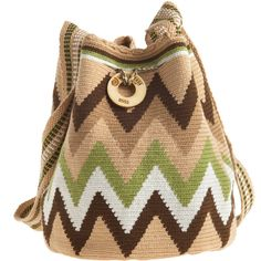 WAYUU TAYA Susu Hand Woven Bag found on Polyvore