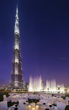 Burj Khalifa, Dubai. Beautifully lit up.