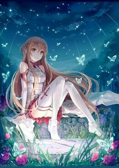 Asuna from Sword Art Online It was drawn 2 months ago for Otafest, it's also my first shot on a proper background. It achieved my first Pixiv Asuna Sword Art Online Asuna, Sword Art Online Memes, Arte Online, Kunst Online, Online Art, Asuna Sao, I Love Anime, Awesome Anime, Noragami