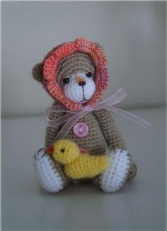 Miniature Thread Crochet Bear & Duck PDF via Craftsy