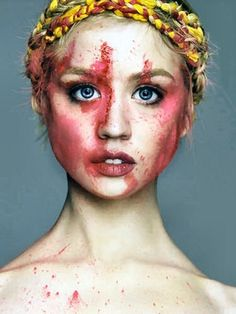 This is a really cool shoot idea and I totally LOVED her on America's next top model.