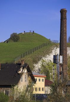 The Krakus Mound (Kopiec Krakusa) and Wanda Mound (Kopiec Wandy) in Krakow are mysterious, prehistoric man-made hills, each about 50 feet high and about 6 miles apart.