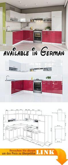 B071D6JWZD  Held Möbel 58416210 Mailand Küche Holzwerkstoff - küchenzeile 220 cm mit elektrogeräten