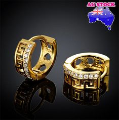 Cheap earrings style, Buy Quality earrings yellow directly from China gold filled earrings Suppliers: The new 2015 earrings yellow and rose gold filled zircon earrings restoring ancient style jewelry Cheap Earrings, Women's Earrings, Cluster Earrings, Gold Earrings Designs, Gold Plated Bracelets, White Gift Boxes, Rose Gold Color, Gold Fashion, Fashion Earrings