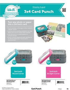 We R Memory Keepers: Tools - Sneak Peek News - Scrappypedia.com 3 x 4 Card Punch  2013