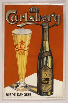 Carlsberg poster created for markets in Belgium and Great Britain. The po… Carlsberg poster created for markets in Belgium and Great Britain. The poster can be purchased on www. Retro Advertising, Vintage Advertisements, Vintage Ads, Vintage Posters, Beer Poster, Poster Ads, Beers Of The World, Beer Brewery, Old Ads