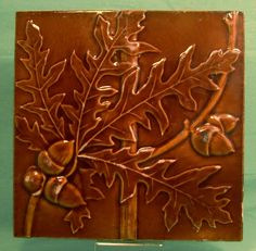 tile with acorns
