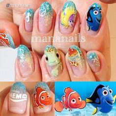 Visit www.oceansofbeauty.com for EZ Dip Gel Powder. It is so easy to DIY EZdip! No lamps needed, lasts 2-3 weeks! #disney #disneynails #disneycharacters #nails #manicure #ezdip #gelnails #nailart