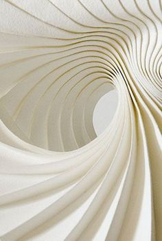 Inspiration from paper art, Paper Art Fest, Sofia - Richard Sweeney. Pinterest Color, Architecture Origami, Parametric Architecture, Parametric Design, Art Texture, Paper Texture, Paper Folding, Book Folding, Shades Of White