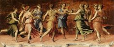 Learn about the 9 muses as inspired by the work Apollo and the Muses by Baldassarre Peruzzi.