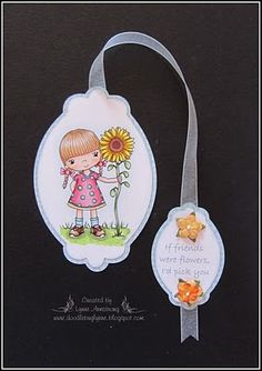 DOODLEBUG DESIGNS: Pollycraft Bookmark