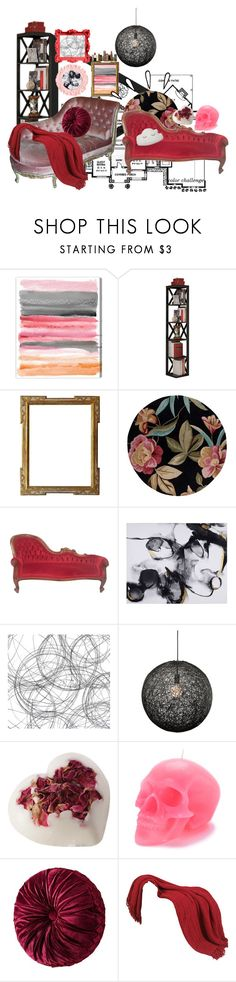 """""""Color Challenge : Red and Pink : Home"""" by jennaeliser ❤ liked on Polyvore featuring interior, interiors, interior design, home, home decor, interior decorating, Oliver Gal Artist Co., Pilaster Designs, KAS and Nuevo"""