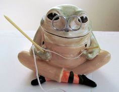 Awesome Vintage Knitting FROG STRING by TextilesandOldThings, $185.00